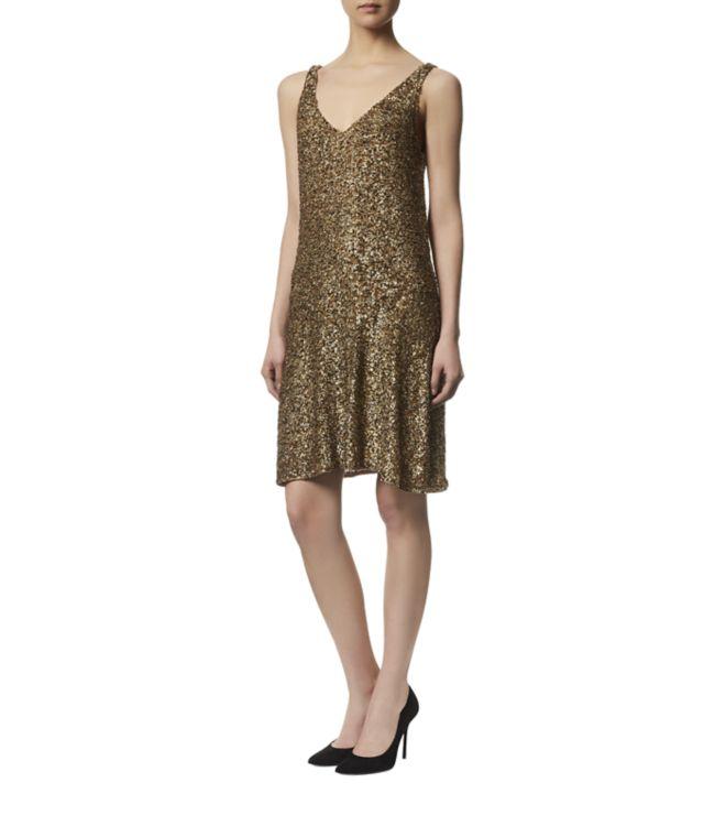 Lauren Ralph Lauren Gold Sequin Dress | Weddings Dresses