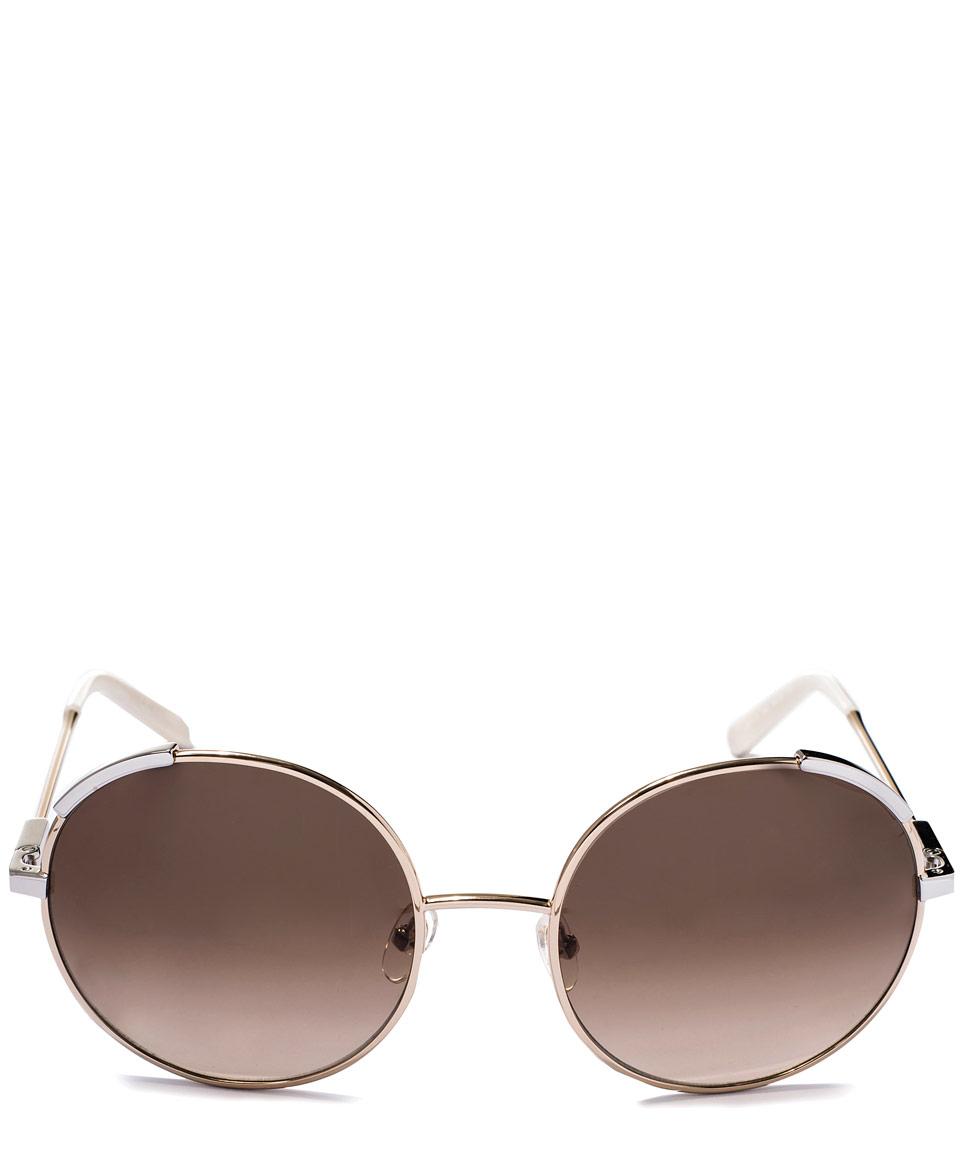 f58e1cf99f2f Lyst - Chloé Gold-tone Eria Round Metal Sunglasses in Metallic