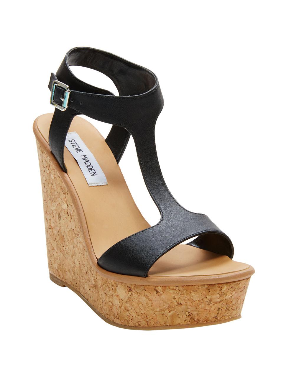 753b84292313 Lyst - Steve Madden Iluvit Wedge Sandals in Black