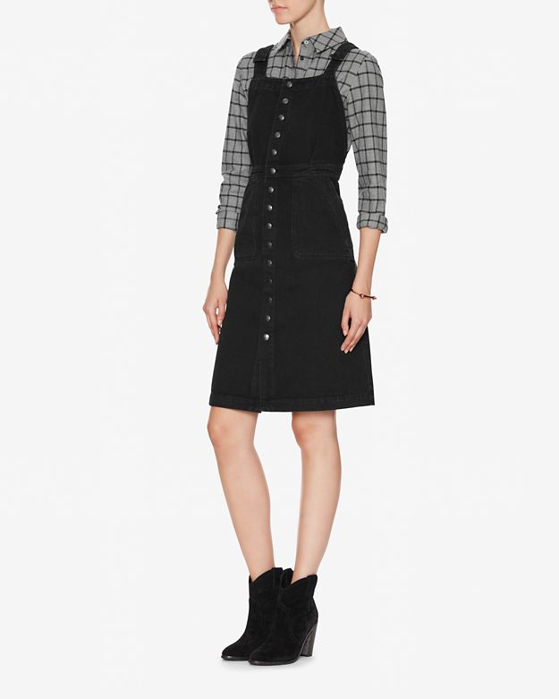 7b9237331f1 Lyst - M.i.h Jeans Eastman Denim Dress  Black in Black