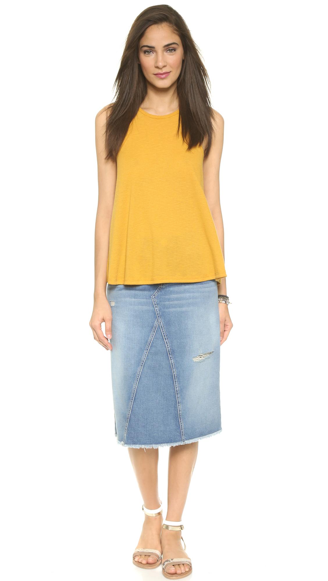 current elliott the midi skirt never ending summer