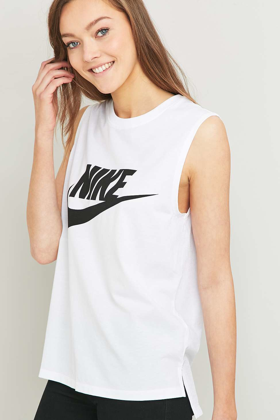 8bae6efd8a12 Nike Signal White Muscle Tank Top in White - Lyst