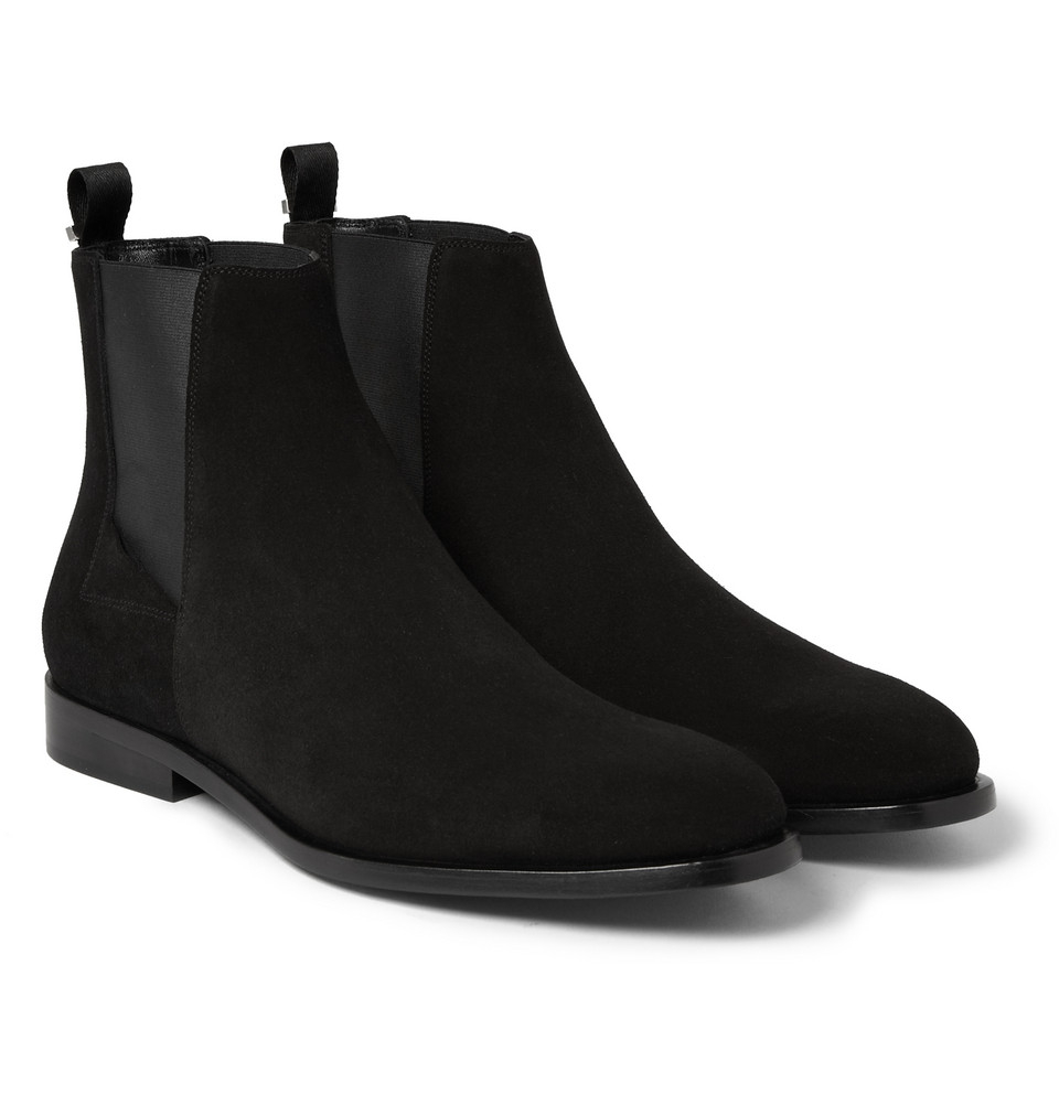 Lyst Balenciaga Suede Chelsea Boots In Black For Men