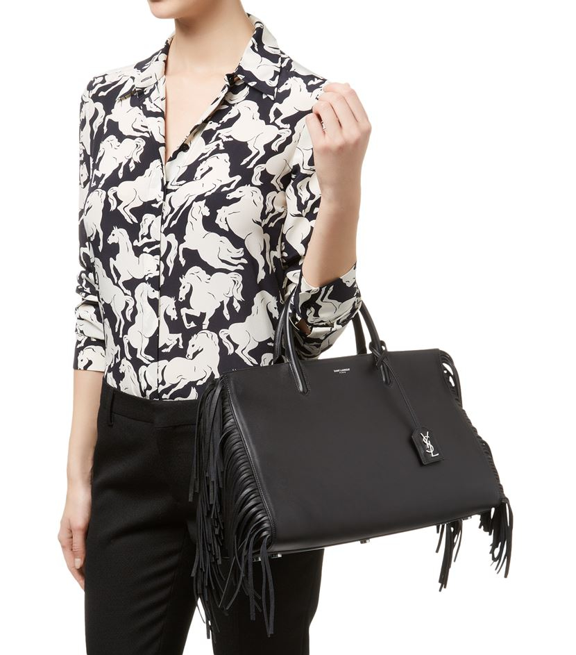 8396cdbaf6 Gallery. Previously sold at  Harrods · Women s Fringed Bags Women s Saint  Laurent ...
