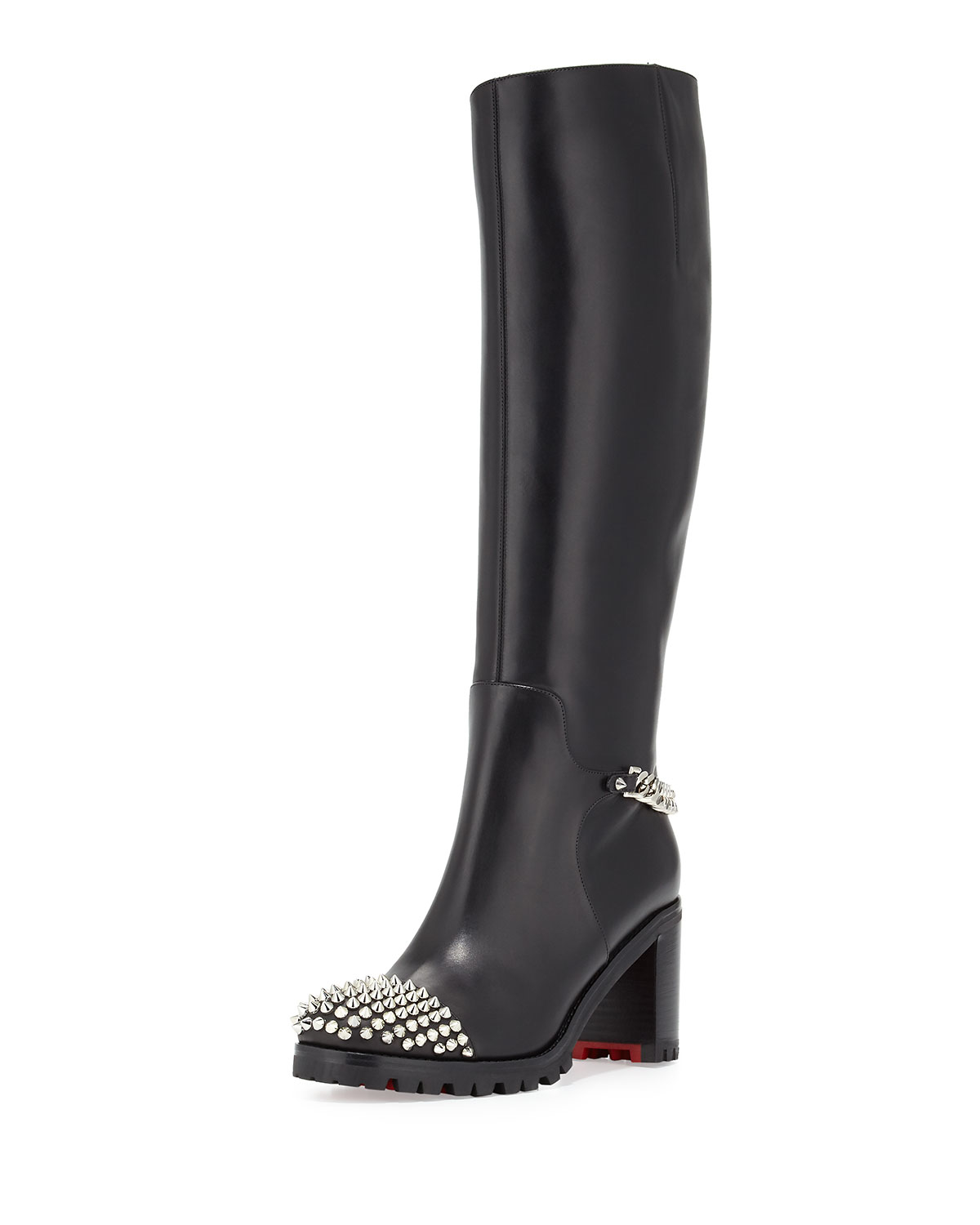 Lyst Christian Louboutin Napaleona Spiked Toe Red Sole