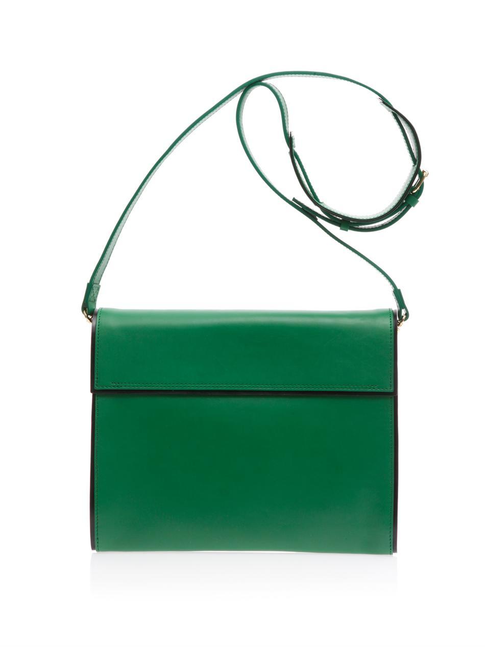 Pierre hardy Leather Crossbody Bag in Green | Lyst