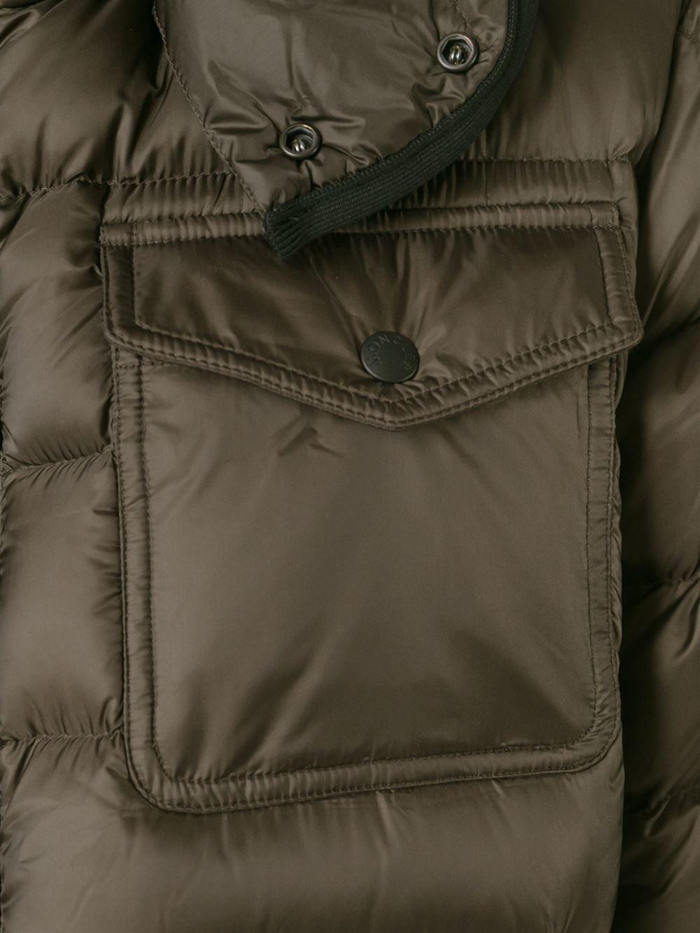 Moncler 'edward' Padded Jacket in Brown for Men