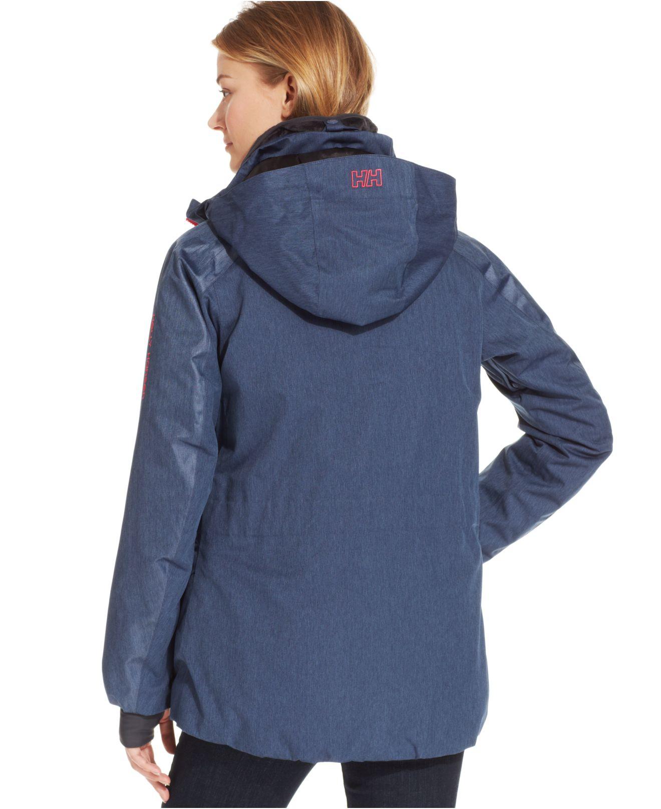 helly hansen blanche hooded ski jacket in blue lyst. Black Bedroom Furniture Sets. Home Design Ideas