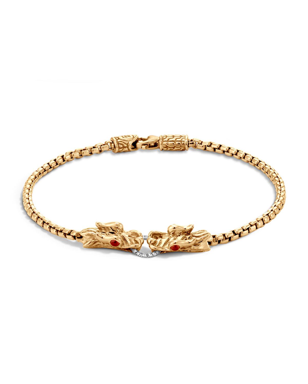 John Hardy Naga 18k Gold Box Chain Bracelet In Metallic Lyst