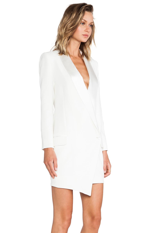 2842160af389c8 Haute Hippie Oversized Asymmetrical Blazer Dress in White - Lyst