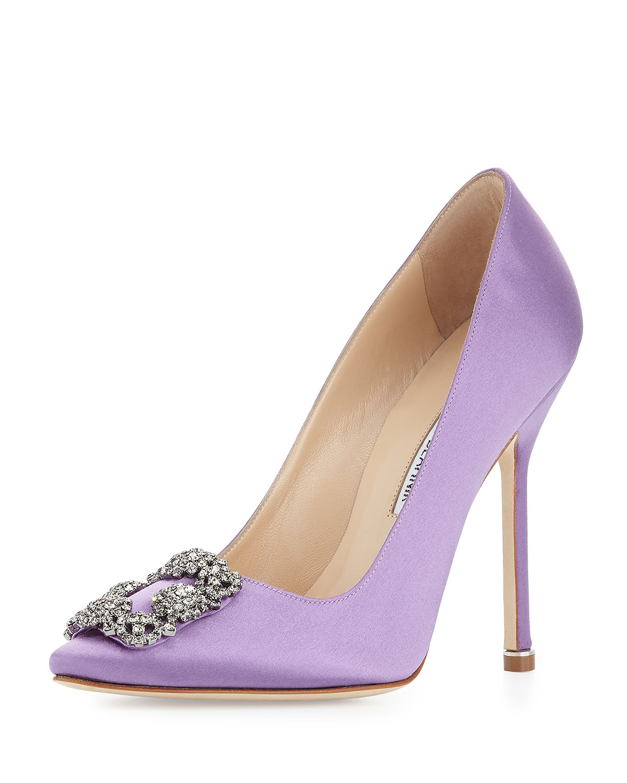 manolo blahnik purple pumps