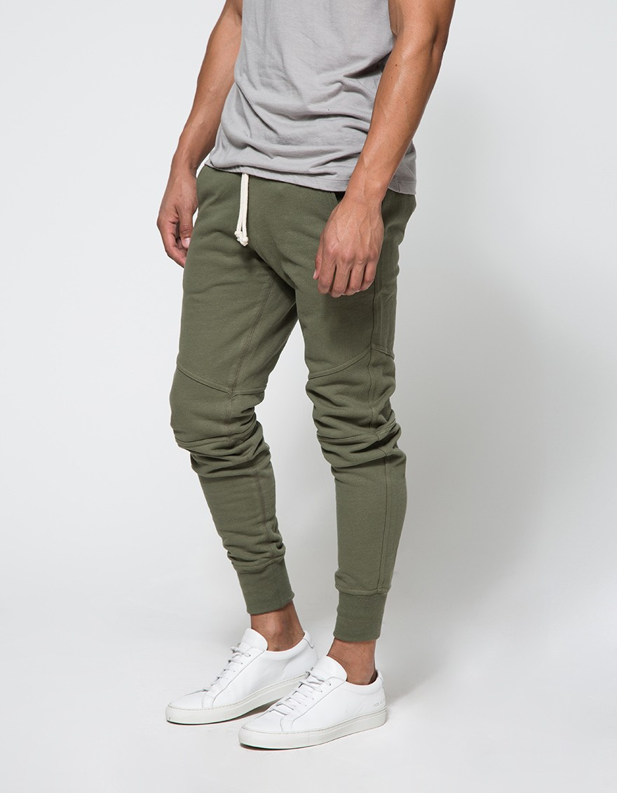 John Elliott Escobar Sweatpant In Olive In Green For Men Lyst