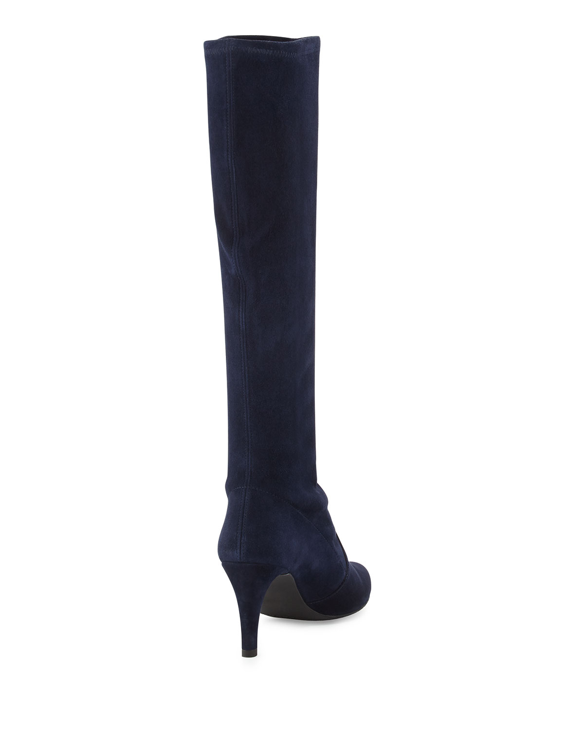 stuart weitzman coolboot stretch suede boot in blue lyst