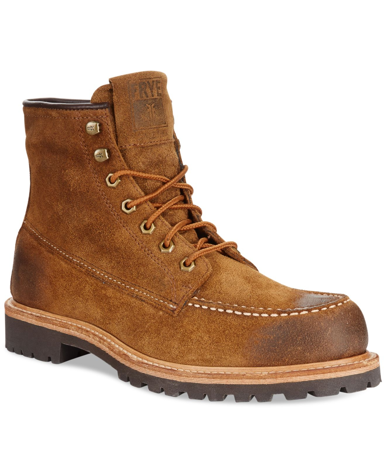 frye dakota mid boots in brown for lyst