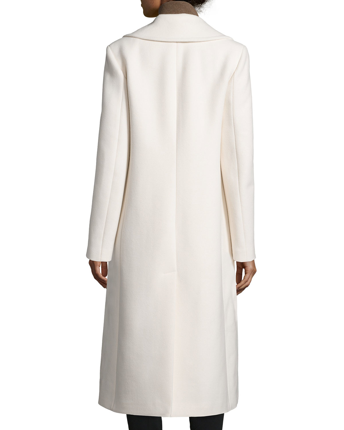 Michael kors Double-breasted Long Coat in White