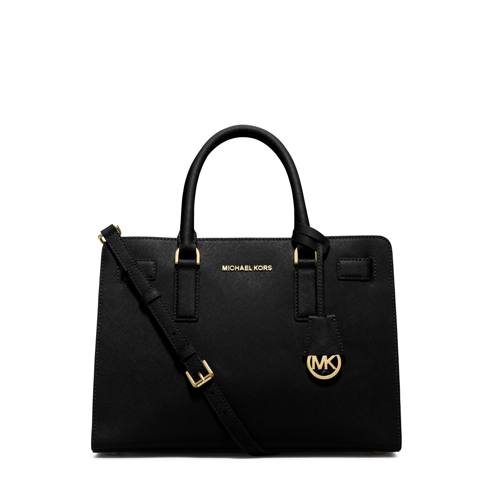 michael kors dillon saffiano leather satchel in black lyst. Black Bedroom Furniture Sets. Home Design Ideas