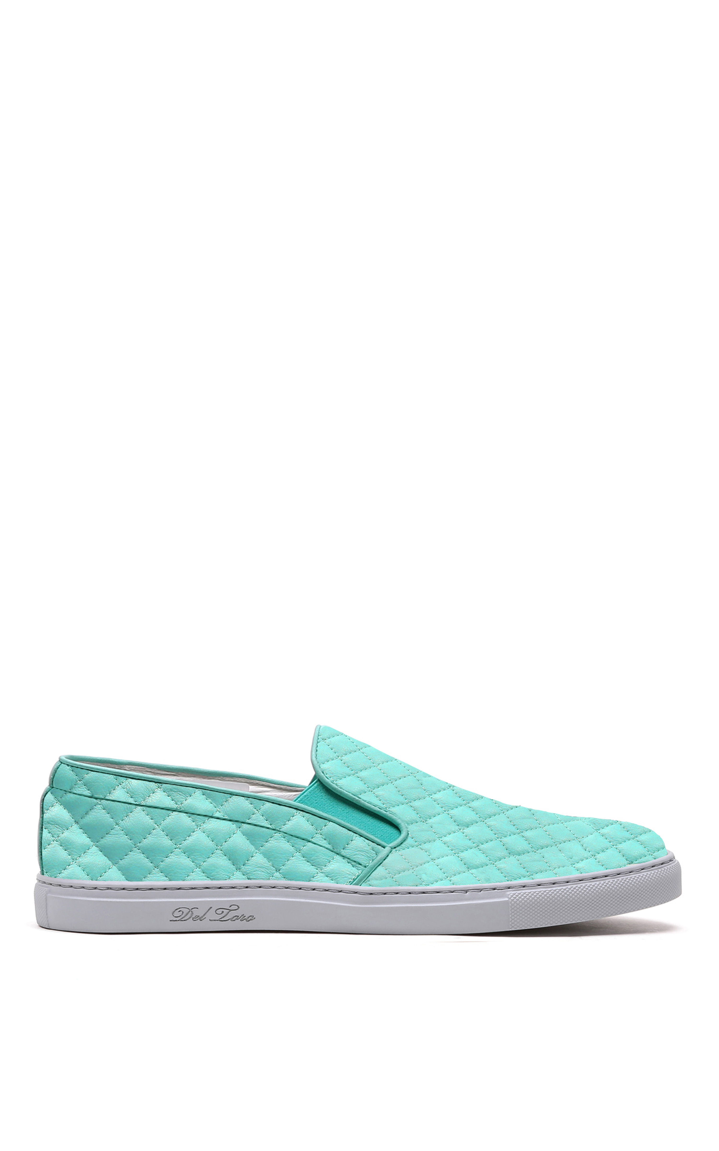 Del Toro Mo Exclusive Sea Foam Quilted Leather Slip On
