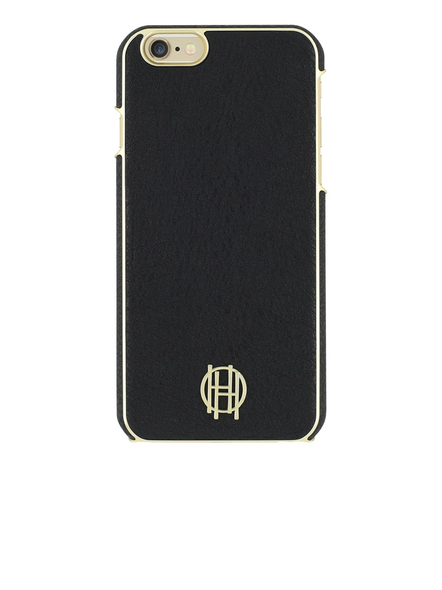 house of harlow 1960 snap case for iphone 6 6s in black black leather gold metallic lyst. Black Bedroom Furniture Sets. Home Design Ideas