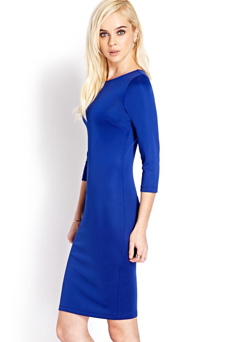 Long sleeve midi bodycon dress forever 21