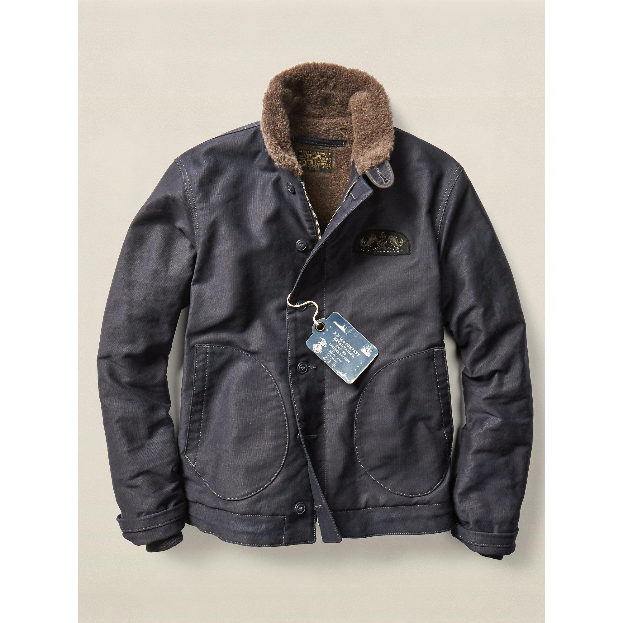 Rrl Limited Edition Deck Jacket In Blue For Men Lyst