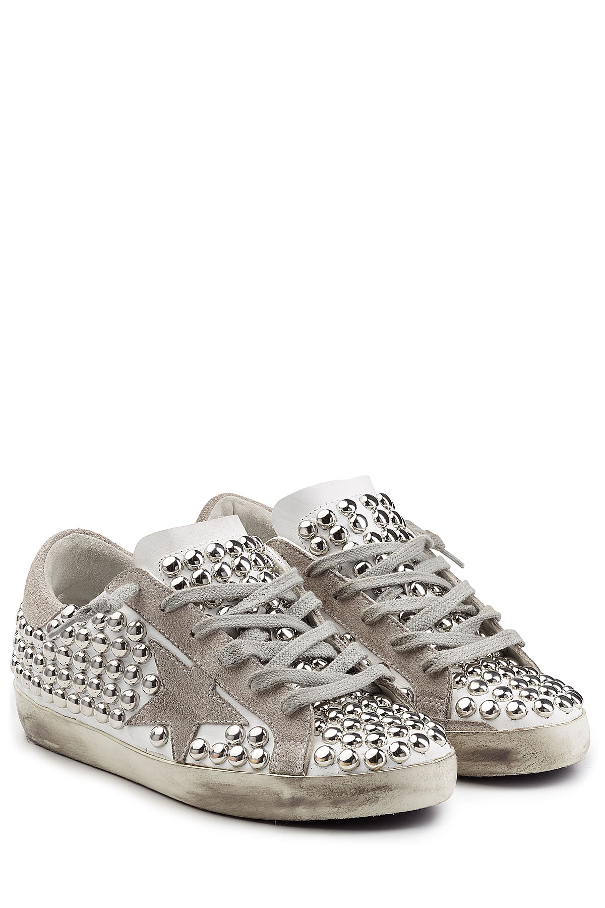 Deluxe Lyst Studded Star Golden And Brand Super Leather Goose 4rrEwp