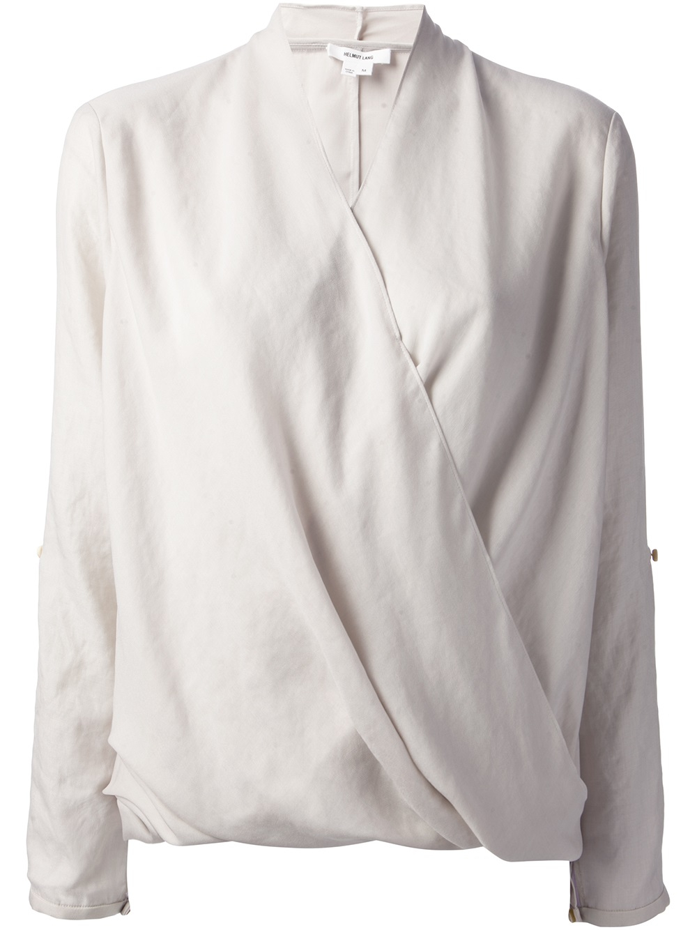 e27f3f5b564808 Lyst - Helmut Lang Wrap Front Blouse in Gray