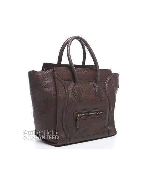 C¨¦line Pre-owned Brown Pebbled Leather Mini Luggage Tote Bag in ...