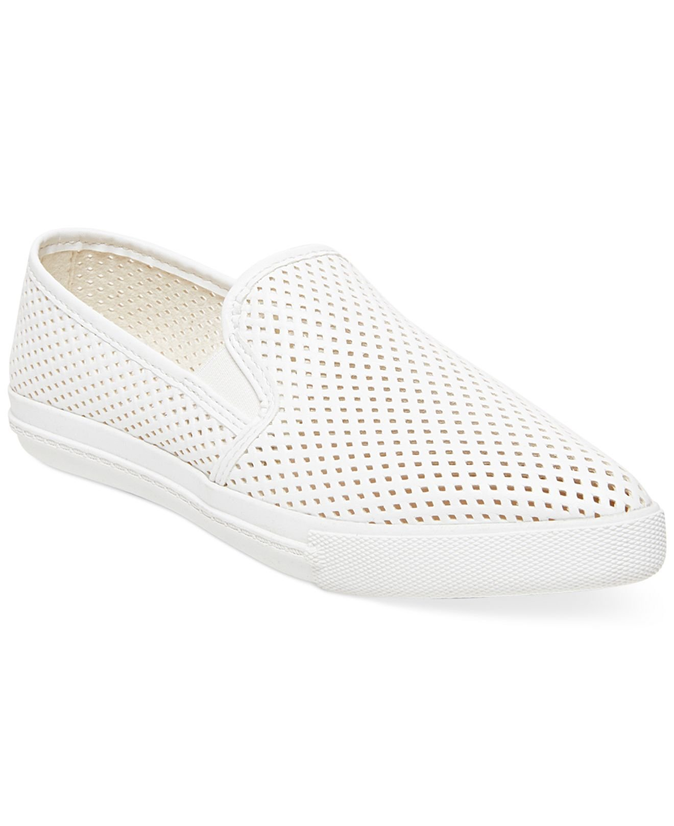 Lyst - Steve Madden Women S Virggo Slip-On Sneakers in White 2e8f39646e