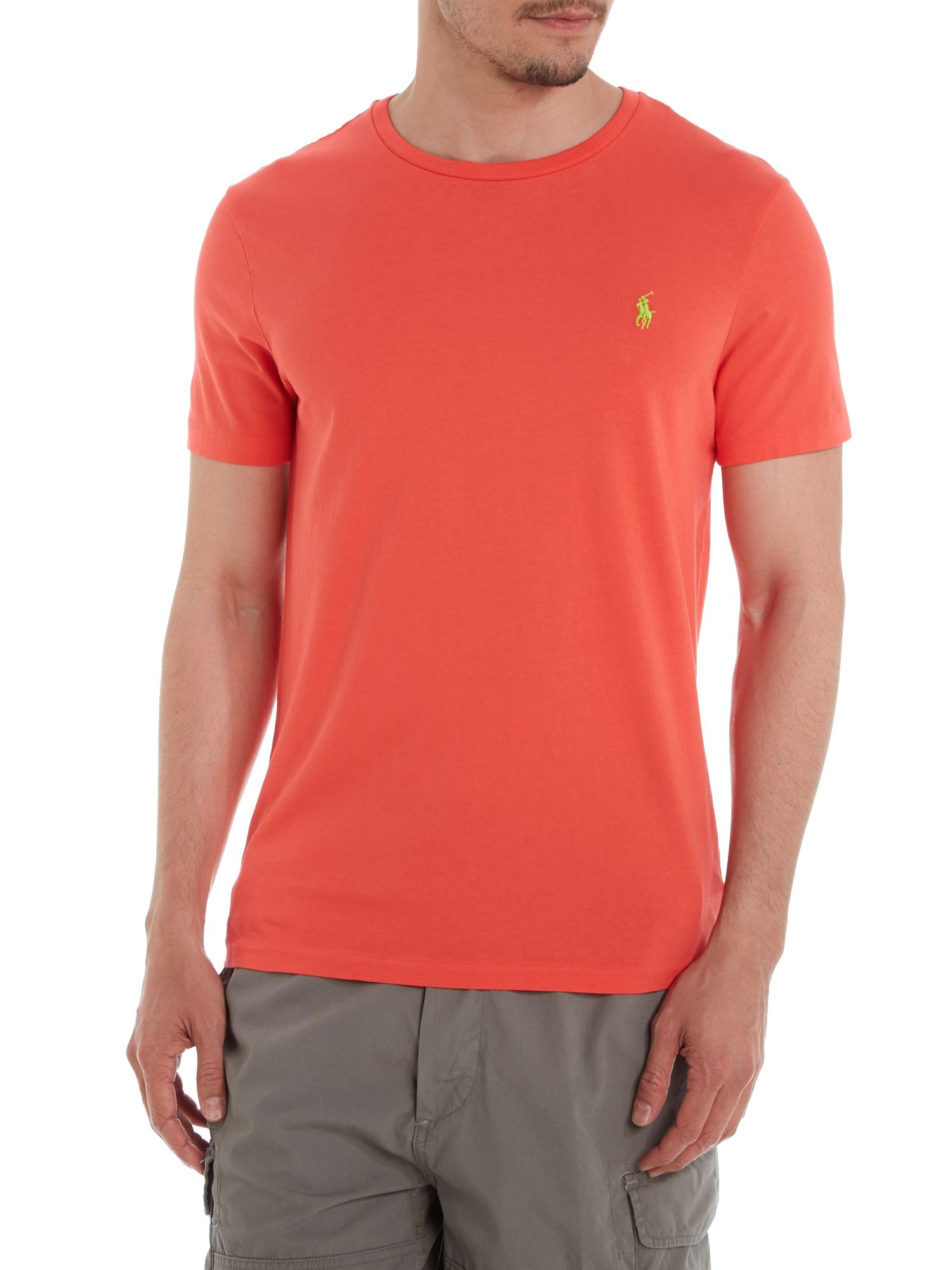 Polo ralph lauren crew neck combed jersey t shirt in for What is polo neck t shirts