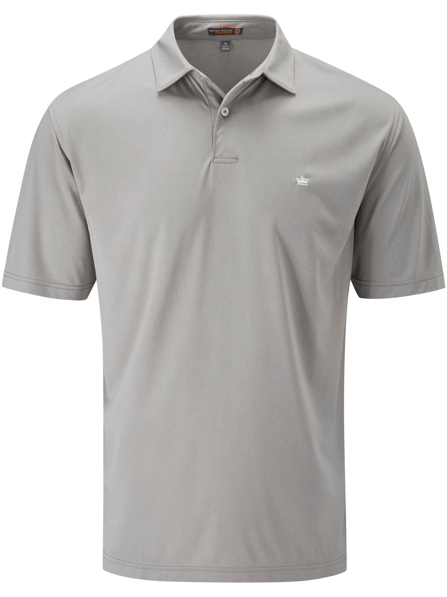 Peter millar featherweight polo in gray for men lyst for Peter millar polo shirts
