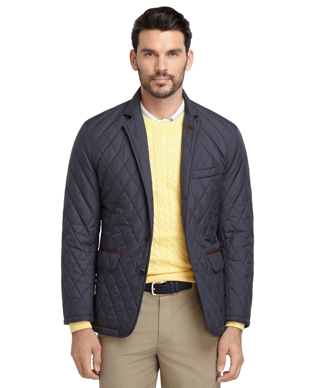 Quilted Blazers: Brooks Brothers Quilted Blazer In Blue For Men