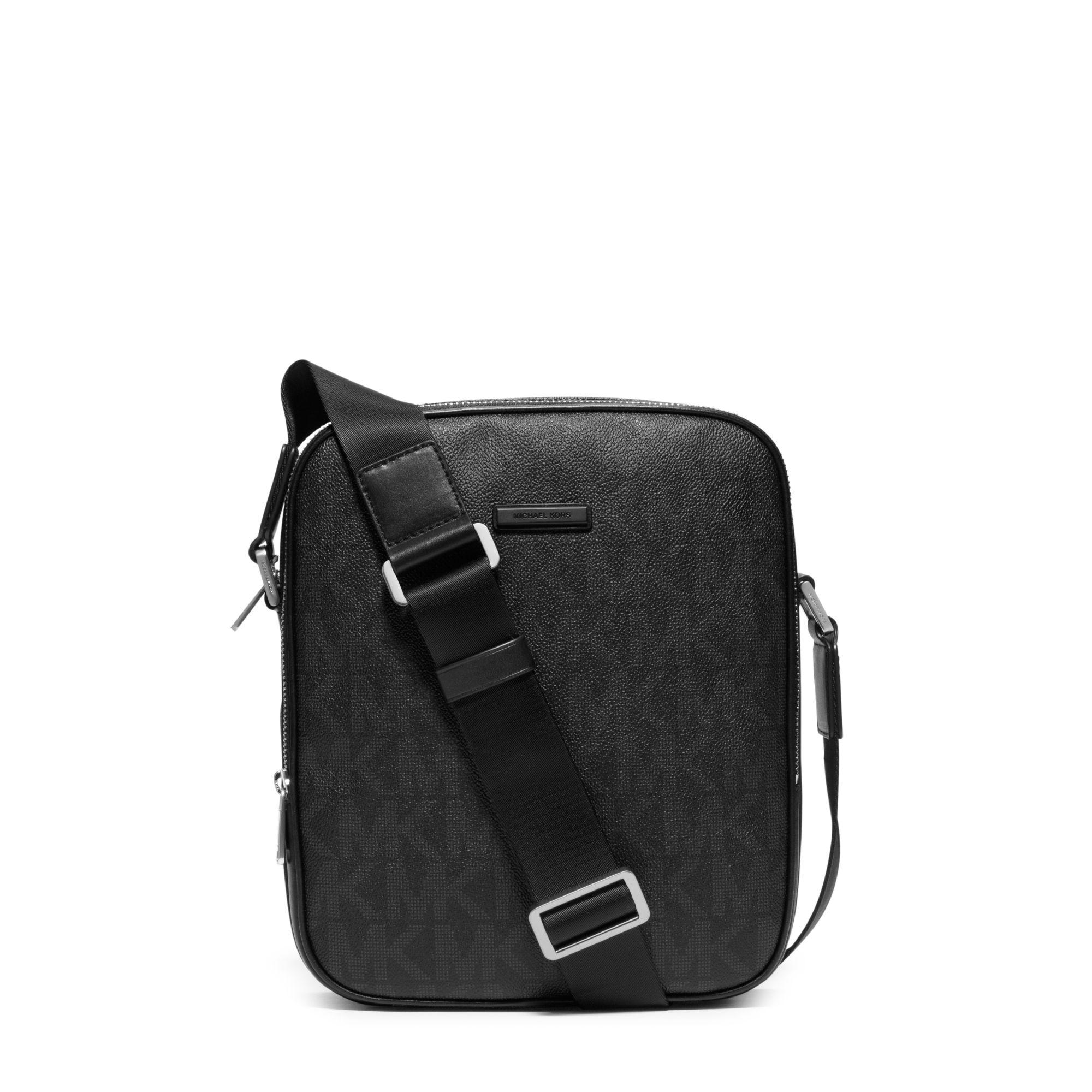 bfe59f386e38d Michael Kors Jet Set Small Logo Flight Bag in Black for Men - Lyst