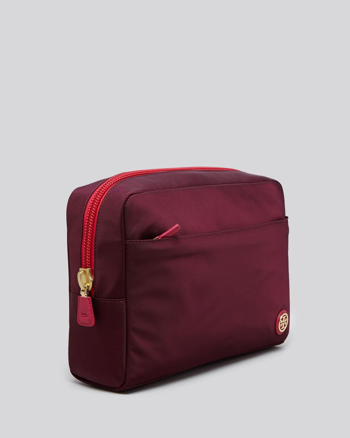 Tory Burch Cosmetic Case Travel Nylon Large Red Lyst