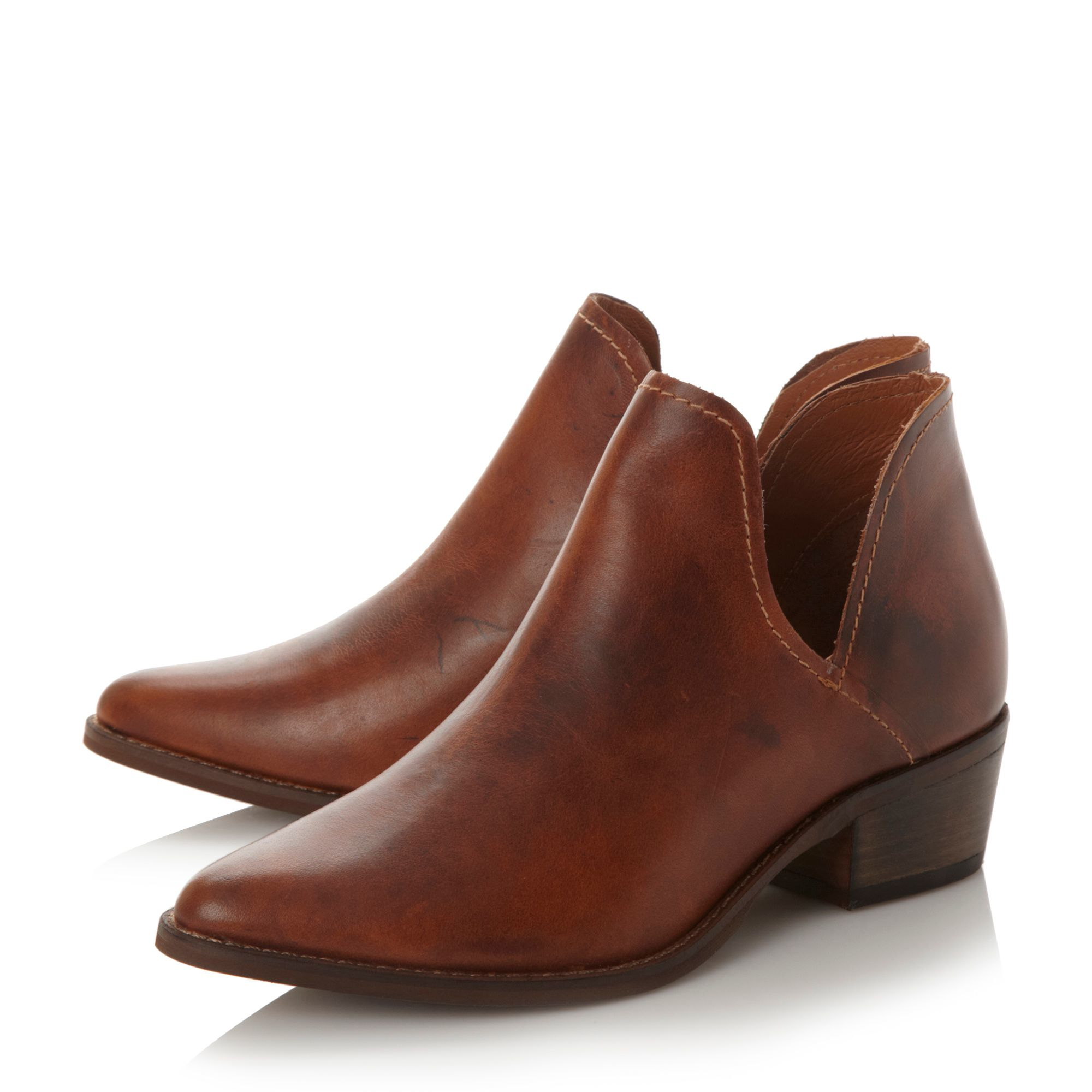 steve madden austyn cut out ankle boots in brown lyst
