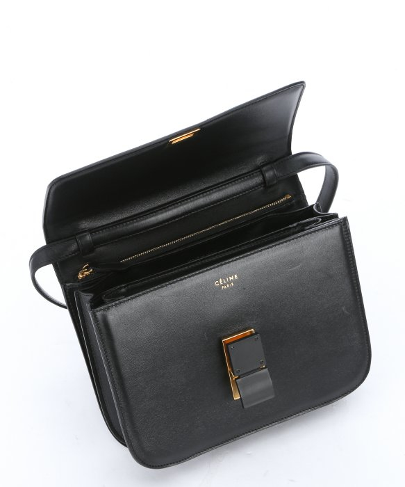 celine burgundy leather handbag classic