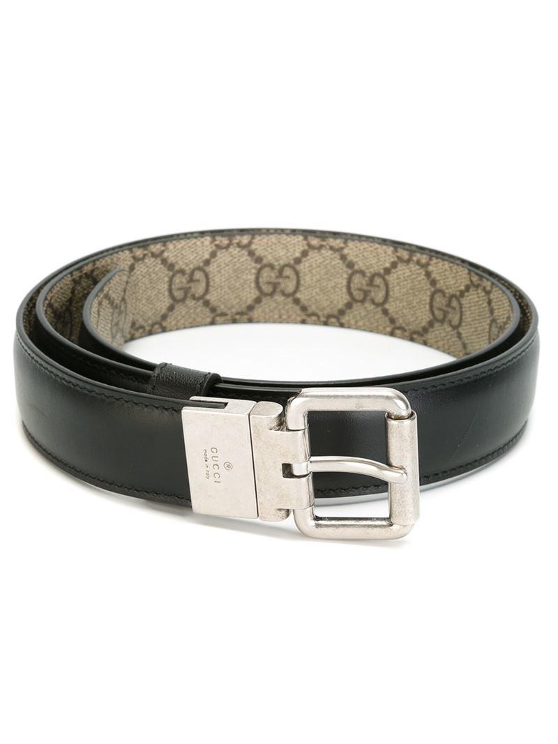 59ffa6328 Gucci Reversible Belt in Black for Men - Lyst
