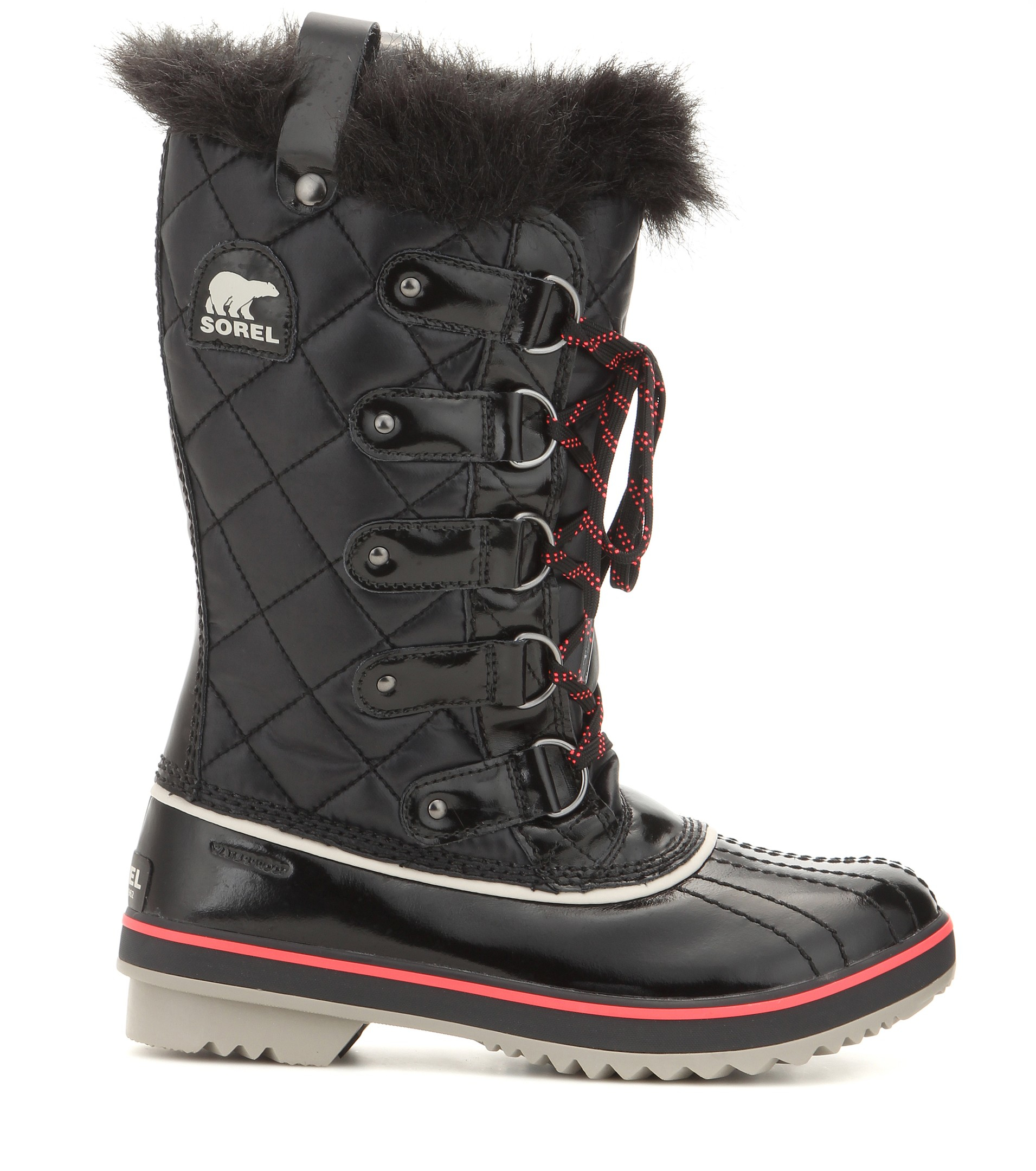 Lyst Sorel Tofino Quilted Snow Boots In Black