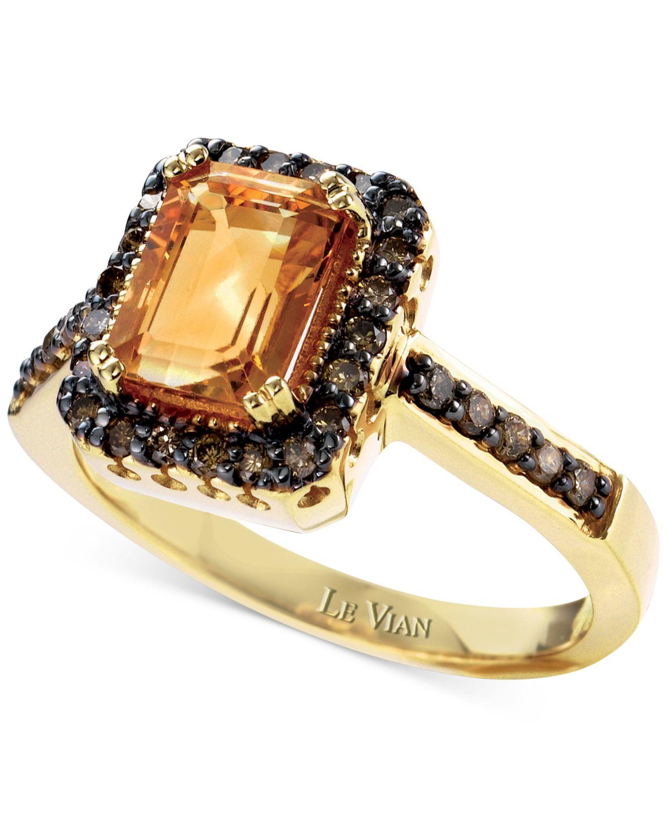 White Diamond And Chocolate Diamond Ring