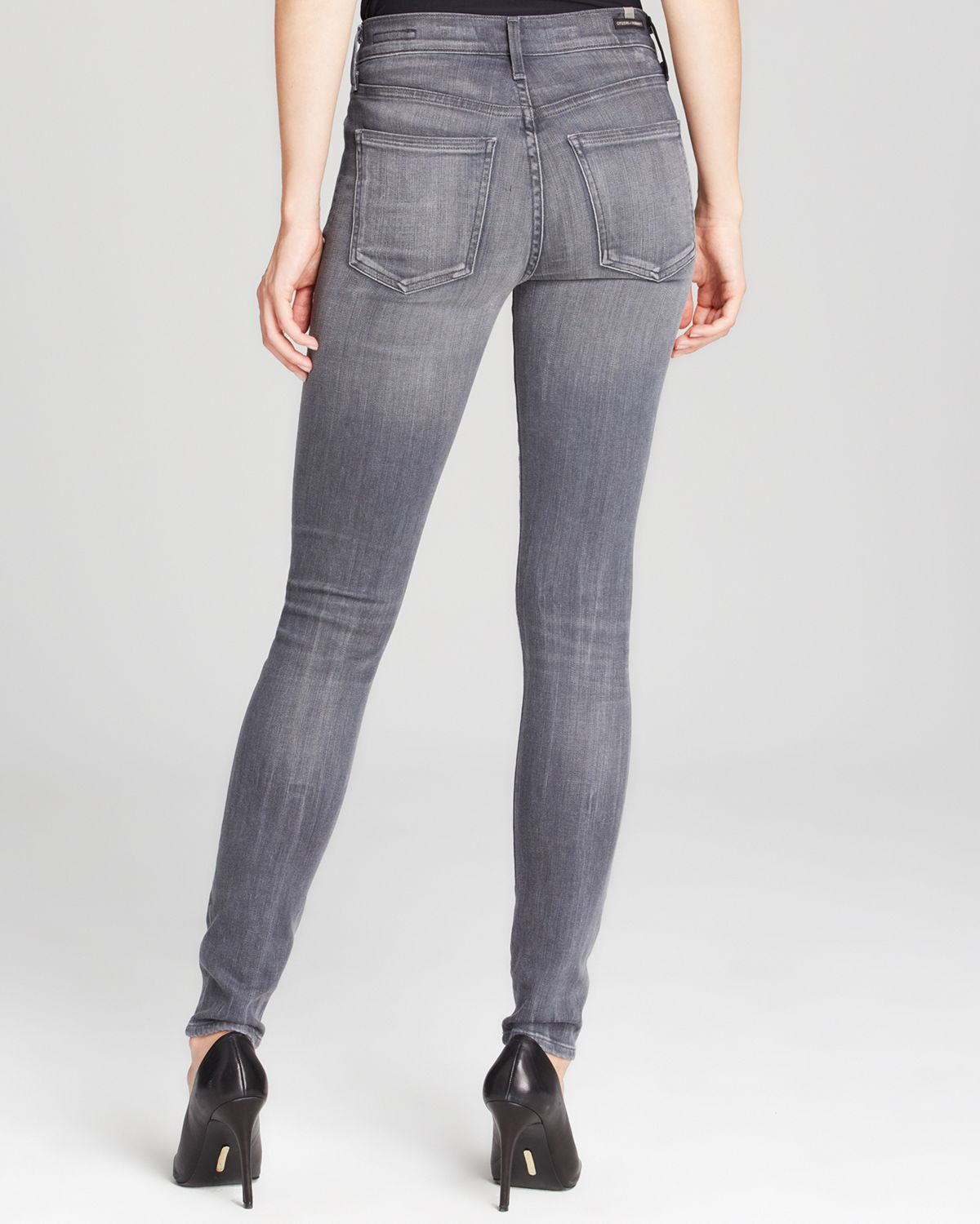 lyst citizens of humanity jeans rocket high rise skinny in cinder in gray. Black Bedroom Furniture Sets. Home Design Ideas