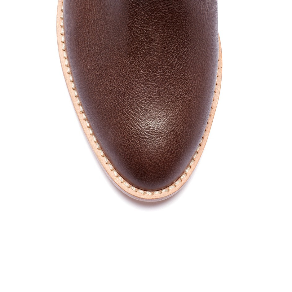 Loeffler Randall Felix Ankle Bootie in Chocolate Leather (Brown)