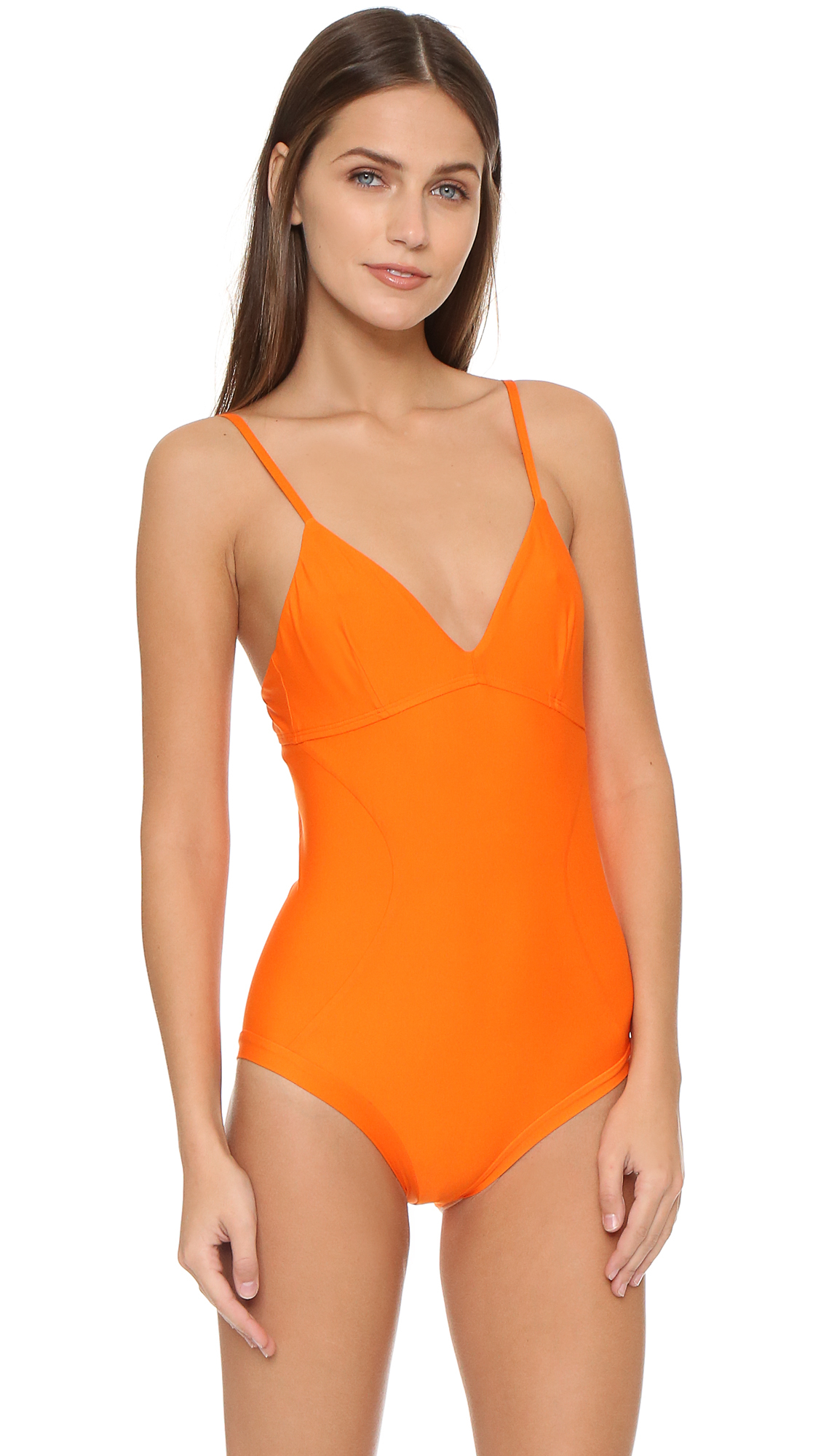 Zero + maria cornejo Cese Swimsuit in Orange