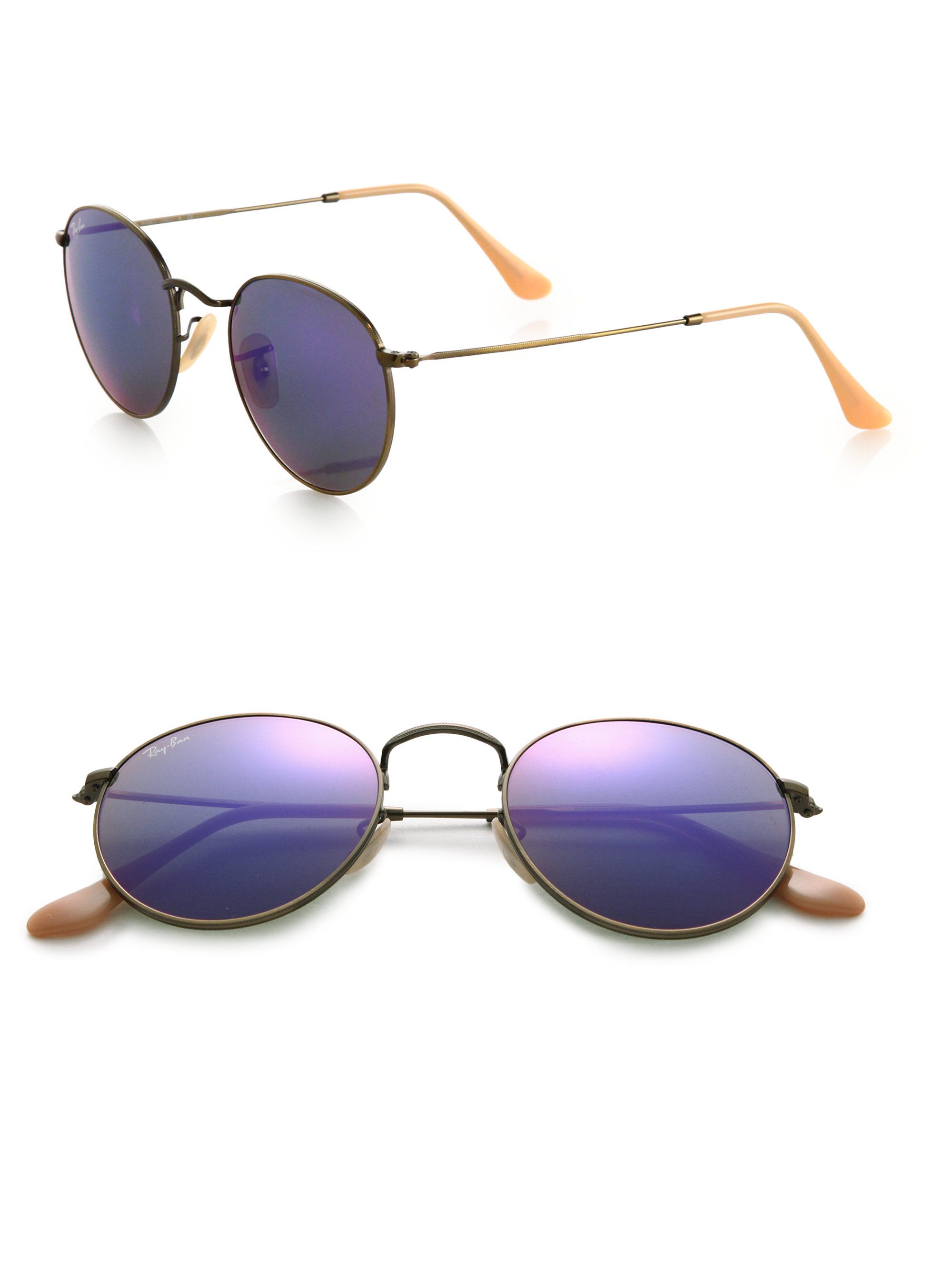16a1571ee1a Purple Ray Bans Round « Heritage Malta