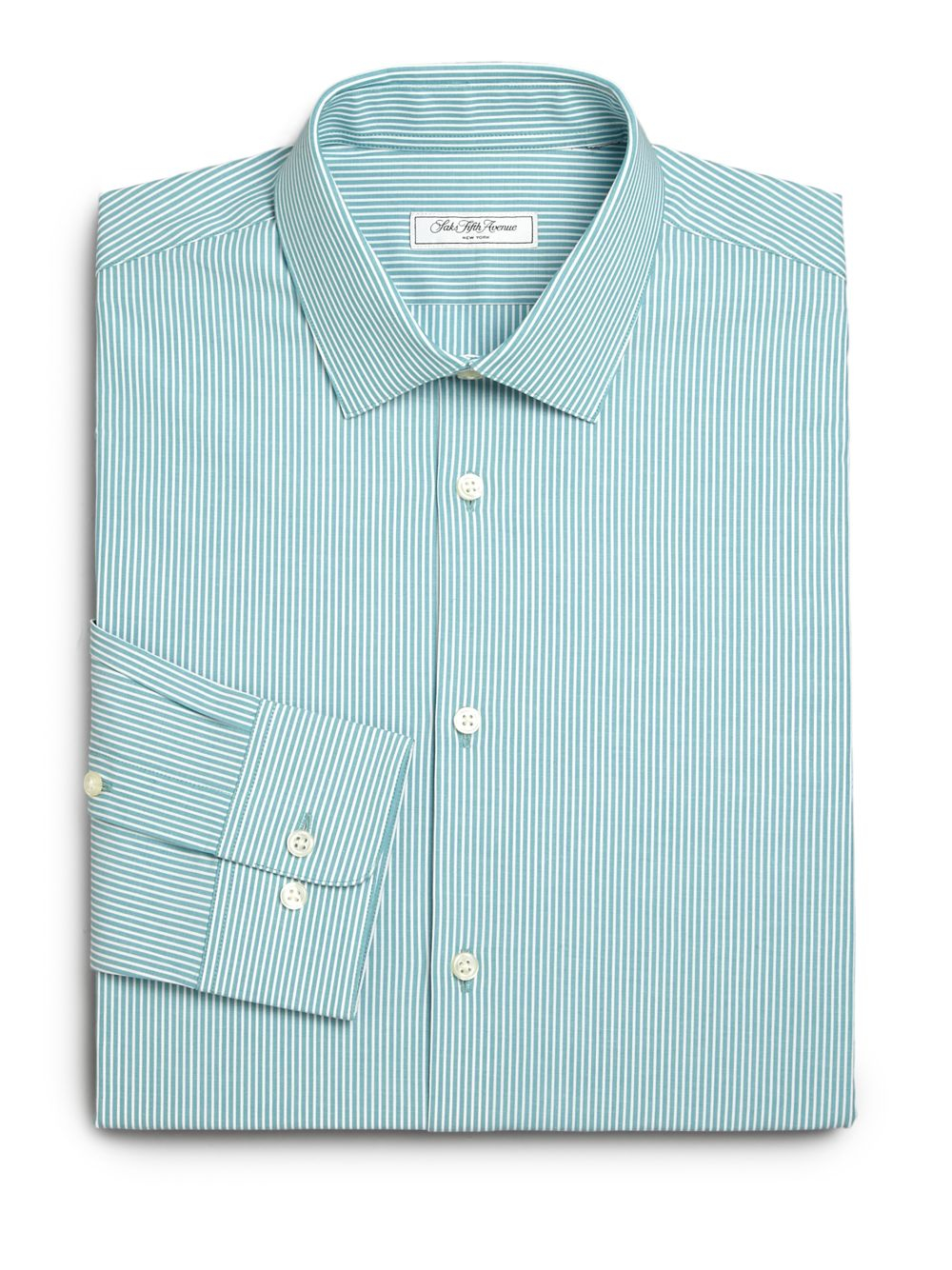 Saks fifth avenue modern fit bengal striped dress shirt in for Modern fit dress shirt