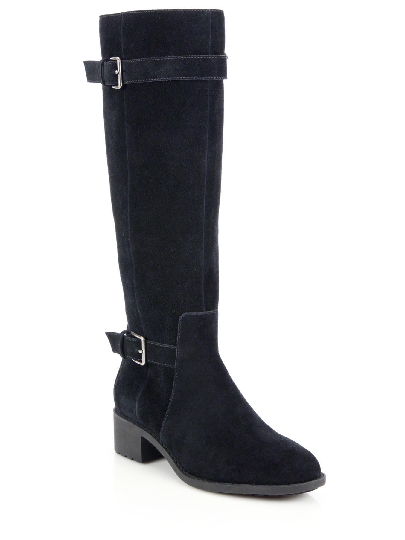 cole haan putnam buckled suede waterproof knee high boots