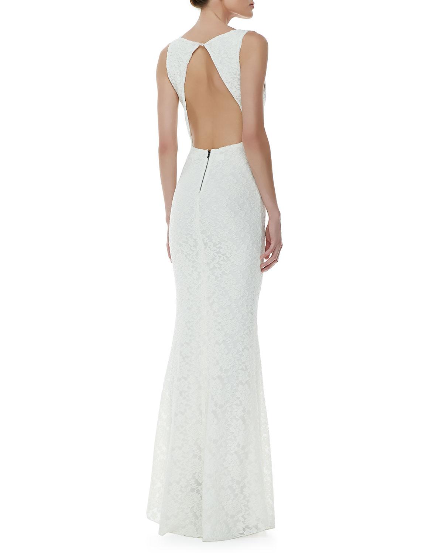 Alice olivia white dress