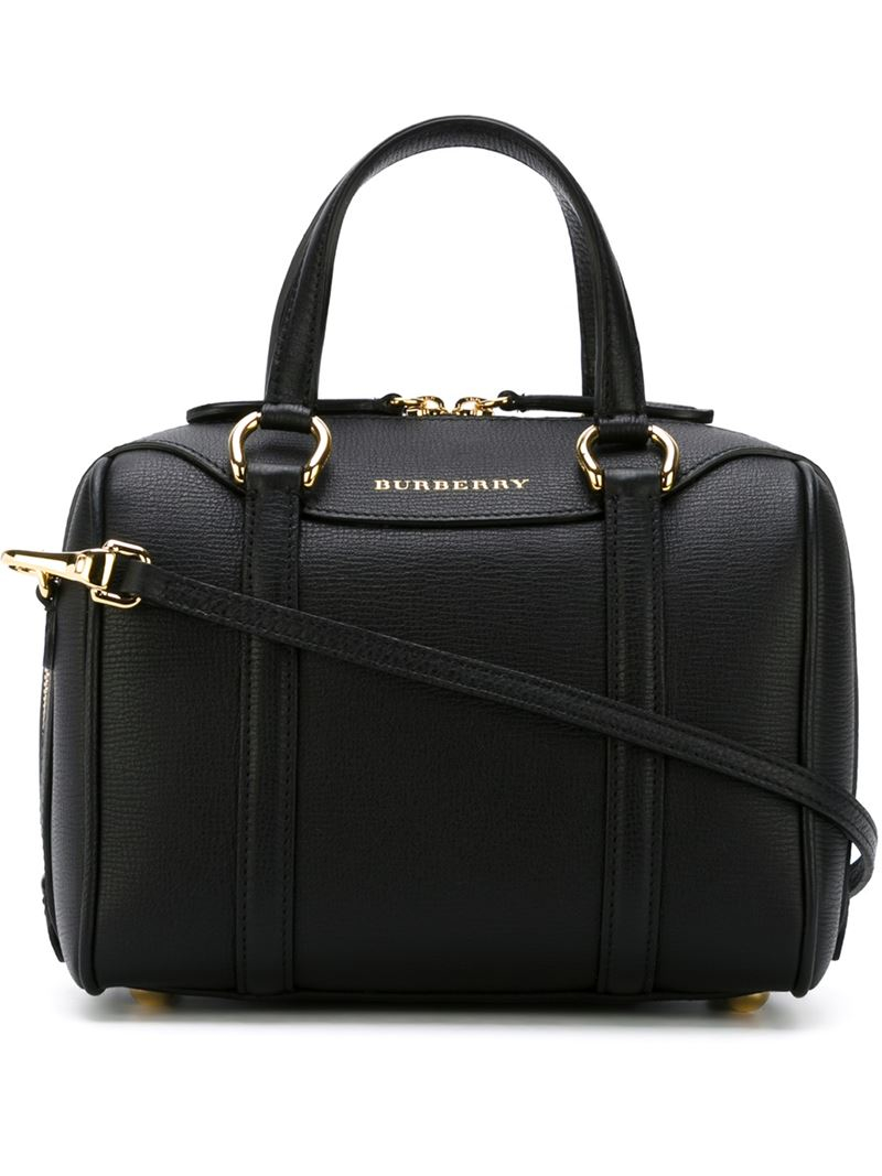 Burberry Small Alchester Tote Bag In Black Lyst