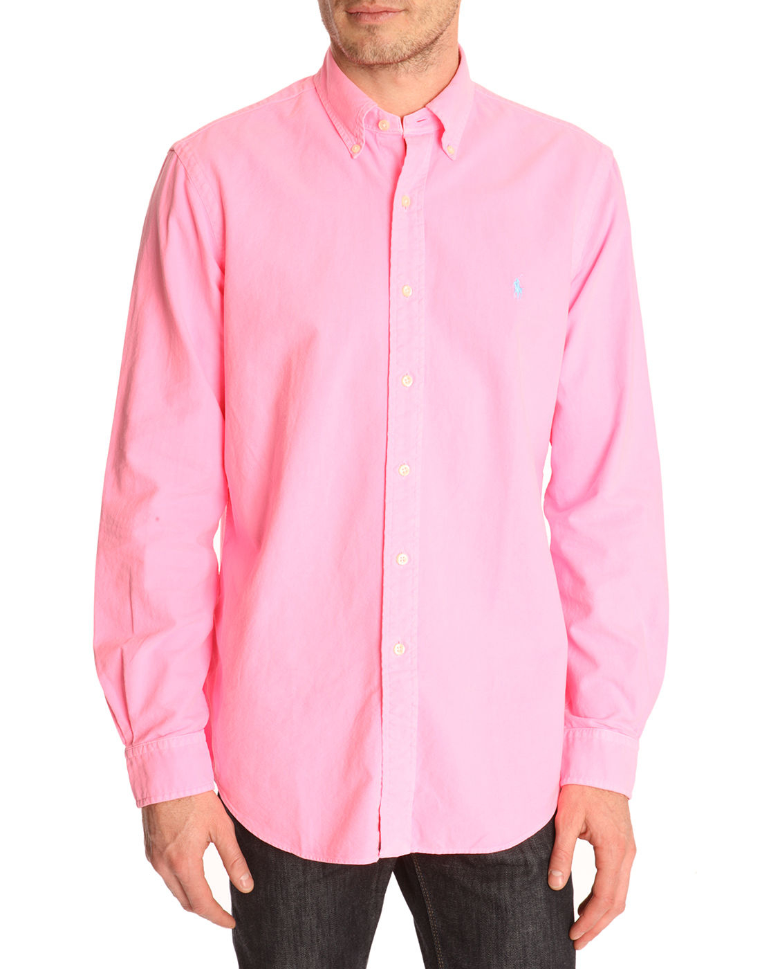 Polo Ralph Lauren Plain Oxford Slim Fit Shirt Pink Dr E