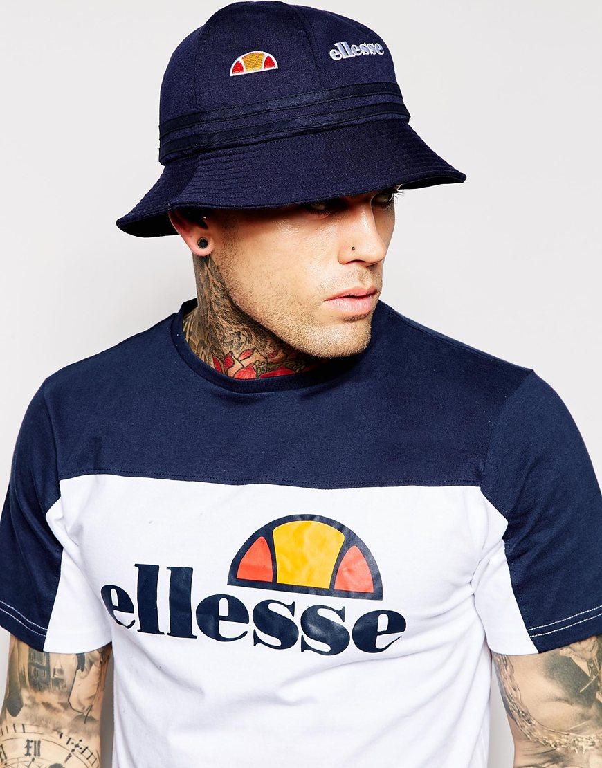 Ellesse Bucket Hat In Terry Towel In Blue For Men Lyst