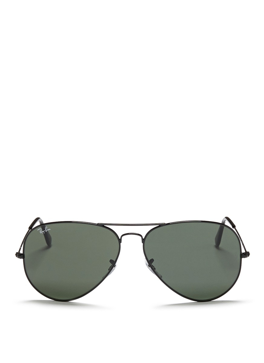 Lyst - Ray-Ban 'aviator Large Metal Ii' Sunglasses in ...
