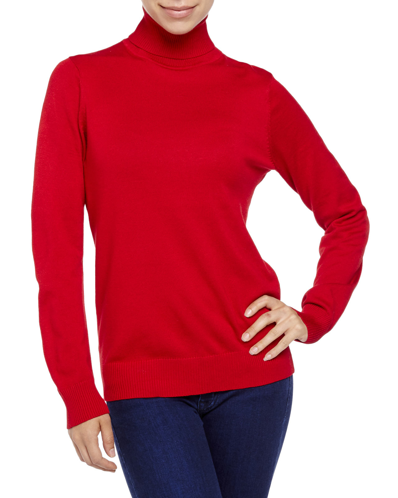 Joseph a Turtleneck Sweater in Red | Lyst